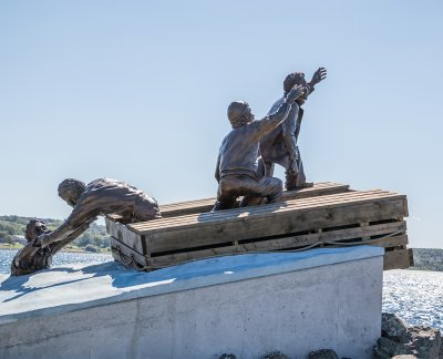 Tribute to Mariners lost at sea, Sydney, Nova Scotia. Photo Credit: Wendy Nordvik-Carr