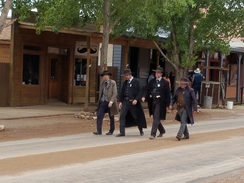Gunfight on the street in Tombstone Arizona. Photo Courtesy of the Tombstone Chamber of Commerce.