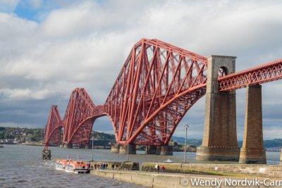 Famous UNESCO World Heritage Site in Scotland, Forth Bridge Photo Credit: Wendy Nordvik-Carr©