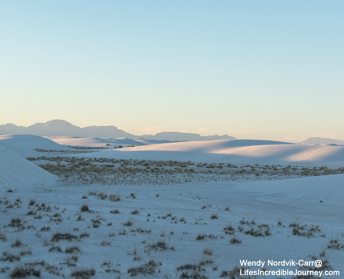 Discover the top things to do in White Sands, New Mexico. Explore the stunning, pristine white sand dunes of White Sands National Monument. Photo Credit: Wendy Nordvik-Carr