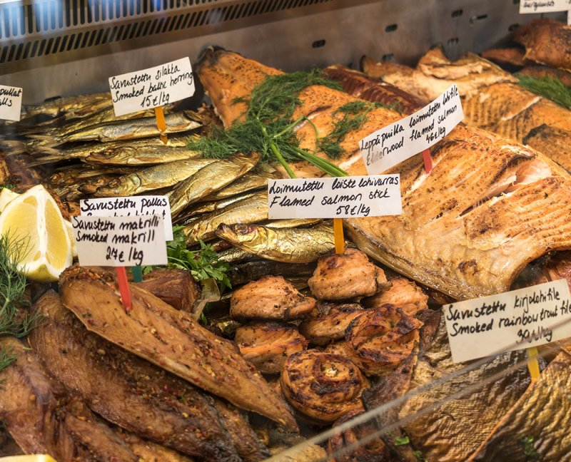 Traditional Foods of Finland. Fresh seafood with offerings of smoked salmon, pickled herring, mussels and more in the markets of Helsinki. Helsinki is part of the designated UNESCO Creative Cities Network. Here are the top things to do in Helsinki, Finland a City of Design. Photo Credit: Wendy Nordvik-Carr©