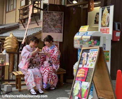Where to see the famous colourful Gion Geisha in Japan. Photo Credit: LifesIncredibleJourney.com