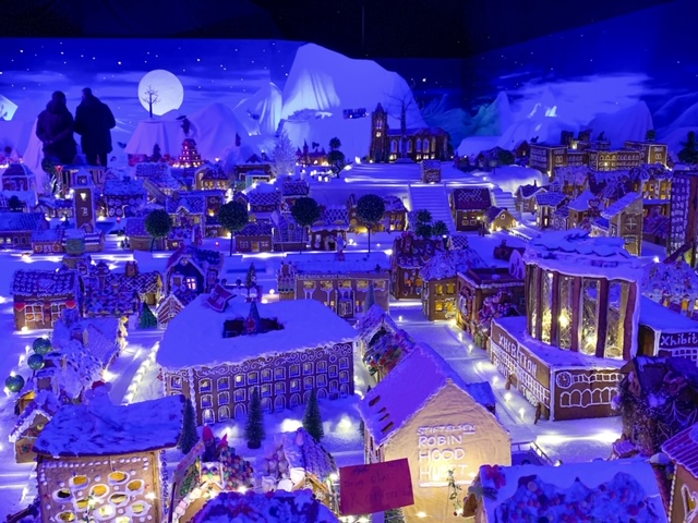 the largest gingerbread village in the world is found in Bergen, Norway. Photo Credit: Wendy Nordvik-Carr©