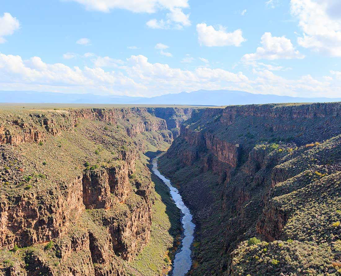 The Rio Grande Gorge as viewed from the Rio Grande Gorge Bridge. Photo: Wendy Nordvik-Carr©